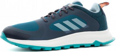 Фото 13 - Кроссовки женские для бега Adidas Response Trail X, размер 35,5 синего цвета