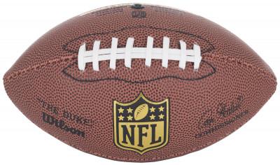 Мяч для американского футбола WilsonСувенирный мяч для американского футбола. Изготовлен из композитной кожи высокого качества.<br>Сезон: 2017; Возраст: Взрослые; Вид спорта: Регби; Тип поверхности: Универсальные; Назначение: Сувенирные; Материал покрышки: Композитная кожа; Материал камеры: Бутил; Способ соединения панелей: Машинная сшивка; Количество панелей: 4; Производитель: Wilson; Артикул производителя: WTF1631; Страна производства: Таиланд; Размер RU: Без размера;