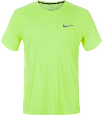 Футболка мужская Nike Dry MilerМужская беговая футболка nike dri-fit гарантирует комфорт на протяжении всей дистанции.<br>Пол: Мужской; Возраст: Взрослые; Вид спорта: Бег; Покрой: Прямой; Плоские швы: Да; Светоотражающие элементы: Есть; Материалы: 100 % полиэстер; Технологии: Nike Dri-FIT; Производитель: Nike; Артикул производителя: 833591-702; Страна производства: Камбоджа; Размер RU: 50-52;
