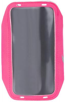 Чехол на руку для смартфона женский NikeЧехол для смартфона nike крепится на руку и позволяет оставаться на связи во время пробежки.<br>Пол: Женский; Возраст: Взрослые; Вид спорта: Бег; Производитель: Nike; Артикул производителя: N.RN.65-619; Страна производства: Китай; Материалы: 25 % полиэстер, 13 % нейлон, 13 % сплав алюминия, 11 % термопластик полиуретан, 8 % неопрен; Размер RU: Без размера;