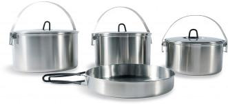 Набор посуды: 3 котелка, сковорода Tatonka FAMILY COOKSET L