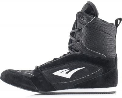 Боксерки высокие Everlast Competition BoxingБоксерки everlast, разработанные с учетом требований к обуви для профессионального бокса, сочетают в себе комфорт и долговечность.<br>Пол: Мужской; Возраст: Взрослые; Вид спорта: Бокс; Состав: Верх: 25 % кожа, 75 % текстиль; подошва: резина; Производитель: Everlast; Артикул производителя: 527-BK; Страна производства: Индонезия; Размер RU: 40,5;