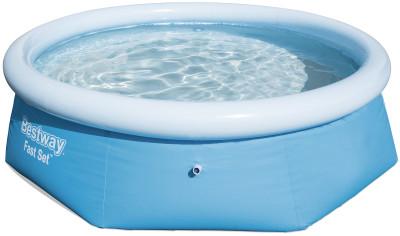 Бассейн BestwayНадувной бассейн объемом 2300 литров подойдет для семьи или компании друзей. Ремнабор в комплекте. Комфорт мягкие надувные бортики гарантируют комфорт во время купания.<br>Объем: 2300 л; Состав: Поливинилхлорид; Водоизмещение (литры): 2300 л; Размеры (дл х шир х выс), см: 244 x 66; Размер упаковки: 20 x 20 x 25 см; Вес, кг: 5,6; Вид спорта: Кемпинг; Производитель: Bestway; Артикул производителя: BW57265; Срок гарантии: 6 месяцев; Страна производства: Китай; Размер RU: Без размера;