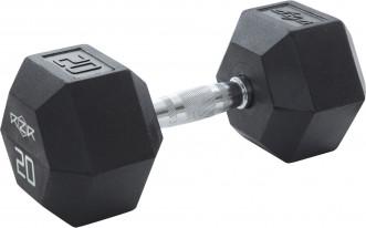 Гантель гексагональная обрезиненная RZR, 20 кг