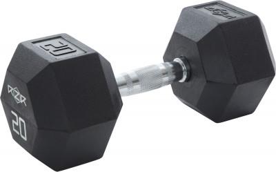 Гантель гексагональная обрезиненная RZR, 20 кгГантели rzr весом 20 кг - оптимальный выбор для силовых упражнений и функциональных тренировок.<br>Вес, кг: 20 кг; Вид спорта: Кардиотренировки, Фитнес; Производитель: RZR; Срок гарантии: 2 года; Артикул производителя: RZR-HEX-20; Страна производства: Китай; Размер RU: Без размера;