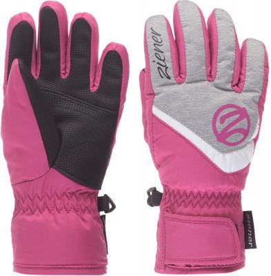 женские перчатки ziener, розовые
