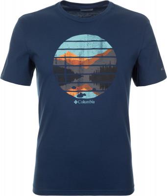 Футболка мужская Columbia Warren Grove Tee, размер 52-54Футболки<br>Удобная и практичная футболка от columbia - прекрасный вариант для долгих прогулок. Натуральные материалы модель выполнена из натурального хлопка.