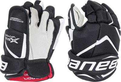 Перчатки хоккейные детские Bauer Vapor X600Прочный, износоустойчивый материал используется в качестве внешней отделки перчаток этой модели.<br>Пол: Мужской; Возраст: Дети; Вид спорта: Коньки и хоккей; Материал верха: Нейлон; Материал наполнителя: Пена; Материал подкладки: Гидрофобный сетчатый материал; Вентиляция: Есть; Производитель: Bauer; Артикул производителя: 1049180; Срок гарантии: 1 год; Страна производства: Китай; Размер RU: 9,5;
