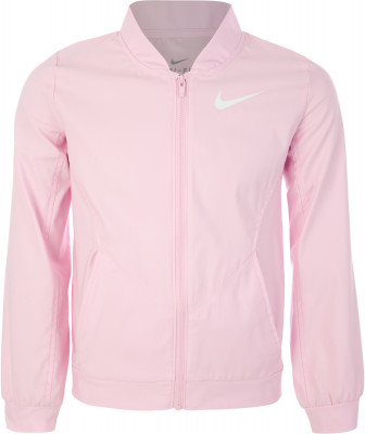 Куртка для девочек Nike, размер 146-156Куртки <br>Ветровка для девочек от nike - отличный выбор для занятий фитнесом. Отведение влаги технология dri-fit обеспечивает влагоотвод и оптимальный микроклимат.