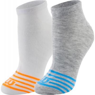Носки Wilson, 2 парыПрактичные носки для занятий спортом wilson. Благодаря эластичной ткани, носки облегают ногу, что гарантирует удобную плотную посадку.<br>Пол: Мужской; Возраст: Взрослые; Вид спорта: Спортивный стиль; Дополнительная вентиляция: Да; Производитель: Wilson; Артикул производителя: W587-E; Страна производства: Китай; Материалы: 98 % полиэстер, 2 % эластан; Размер RU: 35-38;