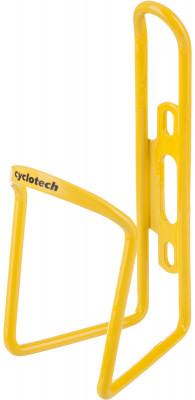 Флягодержатель CyclotechФлягодержатель для велосипеда. Особенности модели: материал: алюминий; надежная фиксация фляги; крепится на раму велосипеда.<br>Материалы: Алюминий; Вид спорта: Велоспорт; Производитель: Cyclotech; Артикул производителя: CBH-1Y.; Страна производства: Китай; Размер RU: Без размера;