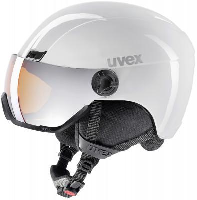 Шлем Uvex 400 VisorШлем с визором из поликарбоната от uvex. Защита конструкция inmould делает шлем одновременно легким и прочным, визор защищает глаза от уф-лучей, ветра и снега.<br>Пол: Мужской; Возраст: Взрослые; Вид спорта: Горные лыжи; Конструкция: In-mould; Вентиляция: Регулируемая; Сертификация: EN 1077 B; Регулировка размера: Есть; Тип регулировки размера: Поворотное кольцо; Материал внешней раковины: Поликарбонат; Материал внутренней раковины: Пенополистирол; Материал подкладки: Полиэстер; Технологии: IAS, Natural Sound; Производитель: Uvex; Артикул производителя: 6217; Срок гарантии: 2 года; Страна производства: Китай; Размер RU: 53-58;