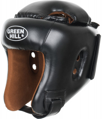 Шлем для кикбоксинга Green Hill HeadgearШлем для бокса, кикбоксинга, мма. Верхняя часть изготовлена из искусственной кожи, подкладка - из искусственной замши. Регулируемый обхват головы.<br>Вид спорта: Бокс, ММА; Производитель: Green Hill; Артикул производителя: KBH-4050; Размер RU: 56-58;