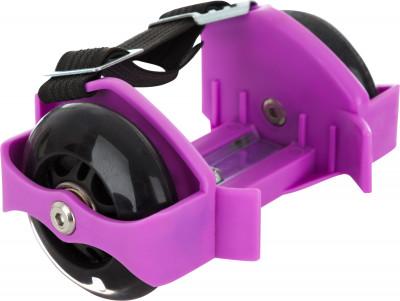 Ролики на обувь REACTIONРоликовые колеса одеваются прямо на обувь и позволяют перемещаться по городу быстро и с комфортом! Колеса раздвигаются под размер обуви, а также светятся во время езды.<br>Пол: Мужской; Уровень подготовки: Начинающий; Возраст: Дети; Вид спорта: Роликовые коньки; Тип подшипников: ABEC 5; Диаметр колеса: 72 мм; Жесткость колеса: 78А; Тип фиксации: Резинка; Раздвижной ботинок: Да; Максимальный вес пользователя: 75 кг; Производитель: REACTION; Артикул производителя: RRSH-PL; Срок гарантии: 2 года; Страна производства: Китай; Размер RU: Без размера;