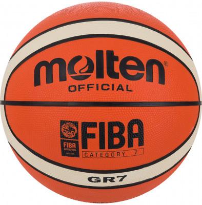 Мяч баскетбольный MoltenБаскетбольный мяч для тренировок с двенадцати панельным дизайном, который отлично подойдет для игры как в зале, так и на улице.<br>Сезон: 2017/2018; Возраст: Взрослые; Вид спорта: Баскетбол; Тип поверхности: Универсальные; Назначение: Тренировочные; Материал покрышки: Синтетическая кожа; Материал камеры: Бутил; Способ соединения панелей: Клееный; Количество панелей: 12; Вес, кг: 0,57-0,61; Производитель: Molten; Артикул производителя: BGR7-OI; Срок гарантии: 2 года; Страна производства: Таиланд; Размер RU: 7;