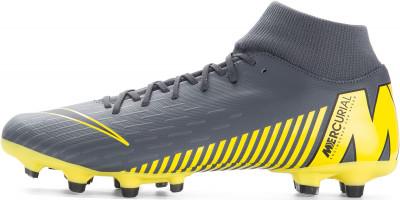 Бутсы мужские Nike Mercurial Superfly 6 Academy FG/MG, размер 39,5Бутсы<br>Мужские бутсы superfly 6 academy от nike. Контроль микротекстура верха позволяет лучше контролировать мяч.