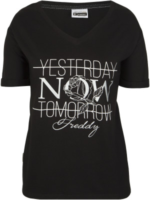 женская футболка freddy, черная