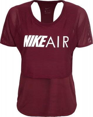 Футболка женская Nike Air, размер 42-44Футболки<br>Удобная и оригинальная футболка для бега nike air. Отведение влаги технология dri-fit гарантирует влагоотвод и оптимальный микроклимат во время пробежки.