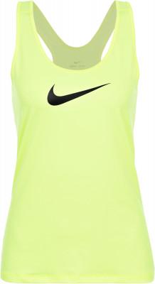 Майка женская NikeЖенская майка станет удачным выбором для занятий фитнесом. Отведение влаги ткань с технологией nike dri-fit эффективно отводит влагу во время занятий спортом.<br>Пол: Женский; Возраст: Взрослые; Вид спорта: Фитнес; Уровень поддержки: Средняя; Технологии: Nike Dri-FIT; Производитель: Nike; Артикул производителя: 902355-702; Материалы: 84 % полиэстер, 16 % эластан; Размер RU: 42-44;