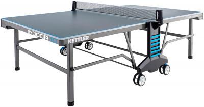 Теннисный стол для помещений Kettler Indoor 10Теннисный стол для закрытых помещений. Удобство пользования встроенная сетка регулируется по высоте и натяжению.<br>Размер в рабочем состоянии (дл. х шир. х выс), см: 274 х 152,5 х 76; Размер в сложенном виде (дл. х шир. х выс), см: 68 х 183 х 165; Вес, кг: 108; Складная конструкция: Есть; Блокиратор в механизме складывания: Есть; Регулировка высоты стола: Есть; Держатель мячей и ракеток: Есть; Труба: Квадратная; Диаметр трубы: 50 х 50 мм; Материал каркаса: Сталь; Толщина игровой плиты, мм: 22; Позиция Playback: Есть; Антибликовое покрытие: Есть; Защитная окантовка плиты: 45 мм; Игровая поверхность: Плита ДСП; Транспортировочные ролики: Есть; Блокиратор колес: Есть; Диаметр колес: 14 см; Материал колес: Резина; Сетка в комплекте: Есть; Регулировка высоты сетки: Есть; Вид спорта: Настольный теннис; Производитель: Heinz-Kettler GmbH &amp; CO.KG; Артикул производителя: 7138-900; Срок гарантии: 3 года; Страна производства: Германия; Размер RU: Без размера;