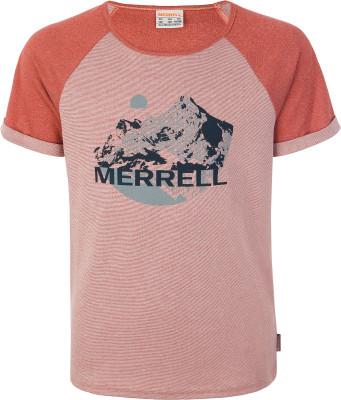Футболка для мальчиков Merrell, размер 146Футболки и майки<br>Футболка с коротким рукавом от merrell станет прекрасным выбором для летнего путешествия. Свобода движений прямой крой не сковывает движения.