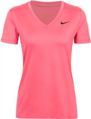 Футболка женская Nike TrainingЖенская футболка nike training - отличный выбор для фитнес-тренировок. Отведение влаги технология nike dri-fit для эффективного влагоотвода и вентиляции.<br>Пол: Женский; Возраст: Взрослые; Вид спорта: Фитнес; Покрой: Приталенный; Технологии: Nike Dri-FIT; Производитель: Nike; Артикул производителя: 889557-823; Страна производства: Вьетнам; Материалы: 84 % полиэстер, 16 % эластан; Размер RU: 42-44;