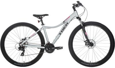 Trek SKYE WSD 29 (2018)Универсальный горный велосипед, который также подойдет для поездок по городу и катания в парках.<br>Материал рамы: Алюминий; Размер рамы: 17; Амортизация: Hard tail; Конструкция рулевой колонки: Полуинтегрированная; Наименование вилки: SR Suntour M-3030; Конструкция вилки: Пружинно-масляная; Ход вилки: 100 мм; Регулировка жесткости вилки: Да; Материал педалей: Нейлон; Система: Shimano Tourney TY301, 42/34/24; Количество скоростей: 21; Наименование переднего переключателя: Shimano Tourney Ty500; Наименование заднего переключателя: Shimano Tourney Ty300; Конструкция педалей: Классические; Наименование манеток: Shimano Altus Ef500; Конструкция манеток: Триггерные двурычажные; Тип переднего тормоза: Дисковый механический; Тип заднего тормоза: Дисковый механический; Материал втулок: Алюминий; Диаметр колеса: 29; Тип обода: Двойной; Материал обода: Алюминиевый сплав; Наименование покрышек: Bontrager x R2, 29 x 2,20; Материал руля: Алюминий; Название шифтера: Shimano Altus EF500; Конструкция руля: Изогнутый; Регулировка руля: Нет; Регулировка седла: Да; Амортизационный подседельный штырь: Нет; Максимальный вес пользователя: 136 кг; Вид спорта: Велоспорт; Технологии: Alpha Silver; Производитель: Trek; Артикул производителя: TR548495/17; Срок гарантии: 6 месяцев; Вес, кг: 14,4; Страна производства: Китай; Размер RU: 158-170;