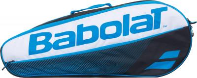 Сумка Babolat RH Essential ClubТеннисная сумка с большим отделением, рассчитанным на три ракетки. В модели предусмотрен внешний карман для аксессуаров. Плечевой ремень регулируется по длине.<br>Размеры (дл х шир х выс), см: 74 х 12 х 30; Количество ракеток: 3; Отделение для бутылки: Нет; Отделение для ракетки: Да; Отделение для обуви: Нет; Плечевой ремень: Да; Регулируемые лямки: Да; Количество отделений: 3; Количество карманов: 2; Боковые карманы: 1; Вид спорта: Теннис; Артикул производителя: 751174; Производитель: Babolat; Страна производства: Китай; Срок гарантии: 2 года; Материал верха: 100 % полиэстер; Материал подкладки: 100 % полиэстер; Размер RU: Без размера;