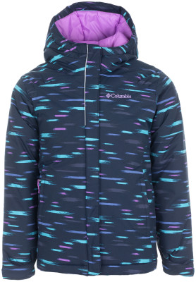 Куртка утепленная для девочек Columbia Horizon RideТеплая куртка для девочек columbia horizon ride - отличный выбор для путешествий в холодное время года.<br>Пол: Женский; Возраст: Дети; Вид спорта: Путешествие; Вес утеплителя на м2: 240 г/м2; Наличие мембраны: Нет; Возможность упаковки в карман: Нет; Регулируемые манжеты: Да; Длина по спинке: 55 см; Покрой: Прямой; Светоотражающие элементы: Да; Дополнительная вентиляция: Нет; Проклеенные швы: Нет; Длина куртки: Средняя; Наличие карманов: Да; Капюшон: Не отстегивается; Мех: Отсутствует; Количество карманов: 2; Водонепроницаемые молнии: Нет; Застежка: Молния; Технологии: Omni-Shield; Производитель: Columbia; Артикул производителя: 1557141464L; Страна производства: Вьетнам; Материал верха: 100 % нейлон; Материал подкладки: 100 % нейлон; Материал утеплителя: 100 % полиэстер; Размер RU: 150-157;