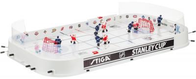 Настольный хоккей Stiga Stanley CupНастольный хоккей с символикой и командами канадского первенства кубок стэнли. Можно играть за команды toronto maple leafes и detroit red wings.<br>Размер в собранном виде (д х ш х в): 87 х 48 х 8; Размер в сложенном виде (дл. х шир. х выс), см: 97,5 x 51 x 9 см; Вес, кг: 3,3; Состав: 95 % полистирол, 5 % сталь, 5 % резина; Вид спорта: Настольный хоккей; Производитель: Stiga; Артикул производителя: 71-1142-70; Срок гарантии: 1 год; Страна производства: Литва; Размер RU: Без размера;