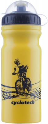 Фляжка велосипедная CyclotechФляжка для крепления на велосипед. Особенности модели: защитная крышка от грязи; объ м 680 мл.<br>Объем: 0,68; Размеры (дл х шир х выс), см: 18 x 7,5 x 7,5; Материалы: Полиэтилен; Вид спорта: Велоспорт; Производитель: Cyclotech; Артикул производителя: CBOT-1Y.; Страна производства: Тайвань; Размер RU: Без размера;