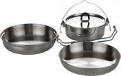 Набор посуды: котелок, сковорода, миска Tatonka CAMP SET REGULAR