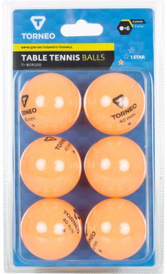 Мячи для настольного тенниса Torneo, 6 шт.Набор мячей для настольного тенниса для всех любителей игры.<br>Количество звезд: 1; Диаметр мяча: 40 мм; Материалы: Целулоид; Вид спорта: Настольный теннис; Производитель: Torneo; Артикул производителя: TI-BOR200; Срок гарантии: 12 месяцев; Страна производства: Китай; Размер RU: Без размера;