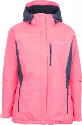 Куртка утепленная женская Columbia Montague PinesУтепленная женская куртка для катания на горных лыжах от columbia. Защита от влаги водонепроницаемое покрытие защищает изделие от промокания.<br>Пол: Женский; Возраст: Взрослые; Вид спорта: Горные лыжи; Наличие мембраны: Нет; Регулируемые манжеты: Да; Внутренняя манжета: Да; Покрой: Приталенный; Дополнительная вентиляция: Да; Длина куртки: Средняя; Датчик спасательной системы: Нет; Наличие карманов: Да; Капюшон: Не отстегивается; Мех: Отсутствует; Снегозащитная юбка: Да; Количество карманов: 3; Карман для маски: Нет; Карман для Ski-pass: Нет; Артикулируемые локти: Нет; Совместимость со шлемом: Нет; Производитель: Columbia; Артикул производителя: 1737111601M; Страна производства: Вьетнам; Материал верха: 100 % нейлон; Материал подкладки: 100 % нейлон; Материал утеплителя: 100 % полиэстер; Размер RU: 46;