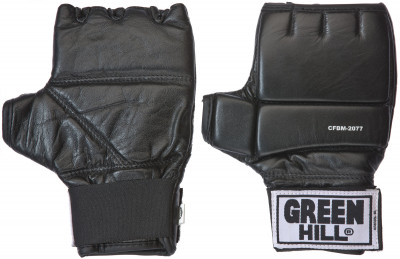 Шингарты Green HillОбрезанные снарядные перчатки (шингарты) из натуральной кожи.<br>Тип фиксации: Липучка; Материал верха: Натуральная кожа; Вид спорта: Единоборства; Производитель: Green Hill; Артикул производителя: CFBM-2077; Срок гарантии: 3 месяца; Страна производства: Пакистан; Размер RU: S;