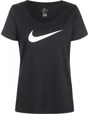 Футболка женская Nike DryЖенская футболка из влагоотводящей ткани nike dry оптимально подходит для интенсивных фитнес-тренировок.<br>Пол: Женский; Возраст: Взрослые; Вид спорта: Фитнес; Покрой: Прямой; Технологии: Nike Dri-FIT; Производитель: Nike; Артикул производителя: 894663-011; Страна производства: Вьетнам; Материалы: 58 % хлопок, 42 % полиэстер; Размер RU: 42-44;