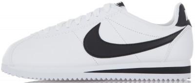 Кроссовки женские Nike Classic Cortez LeatherЖенские кроссовки nike classic cortez leather - это классический беговой дизайн, который эффектно завершит ваш образ.<br>Пол: Женский; Возраст: Взрослые; Вид спорта: Спортивный стиль; Способ застегивания: Шнуровка; Материал верха: 78 % кожа, 22 % синтетическая кожа; Материал подкладки: 100 % текстиль; Материал подошвы: 100 % резина; Производитель: Nike; Артикул производителя: 807471-101; Страна производства: Индонезия; Размер RU: 35;