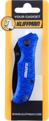 Брелок KLIFFMAN НожБрелоки<br>Складной нож из нержавеющей стали kliffman с ручкой из алюминия, который можно использовать как брелок. Легкий и миниатюрный нож незаменим в походах.