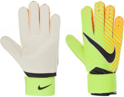 Перчатки вратарские Nike Match GoalkeeperФутбольные перчатки nike match goalkeeper позволяют удержать мяч в любую погоду: пеноматериал на основе латекса гарантирует отличное сцепление, а также смягчает удар.<br>Вид спорта: Футбол; Производитель: Nike; Артикул производителя: GS0344-715; Размер RU: 9;