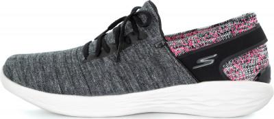 Кроссовки женские Skechers You-Attract, размер 37,5Кроссовки <br>Обувь из линейки you от skechers, предназначенная для занятий йогой, сочетает в себе удобную конструкцию и продуманный дизайн.