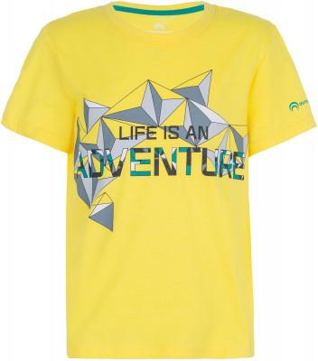 Футболка для мальчиков OutventureУдобная и легкая футболка для мальчиков - оптимальный вариант для походов. Отведение влаги легкий быстросохнущий материал add quickdry обеспечивает быстрое испарение влаги.<br>Пол: Мужской; Возраст: Дети; Вид спорта: Походы; Застежка: Отсутствует; Материалы: 60 % хлопок, 40 % полиэстер; Технологии: ADD QUICKDRY; Производитель: Outventure; Артикул производителя: S17AO0Y015; Страна производства: Бангладеш; Размер RU: 158;
