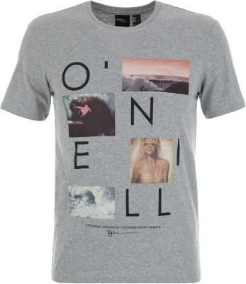 Футболка мужская ONeill Lm Neos, размер 52-54Surf Style <br>Футболка от o neill прекрасно подойдет для жаркой погоды. Свобода движений за счет прямого кроя футболки обеспечивается максимальная свобода движений.
