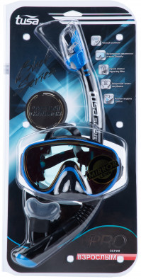 Комплект Tusa Sport Black Series: маска, трубка