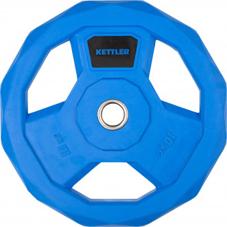 Блин стальной обрезиненный Kettler 10 кг, 2020-21