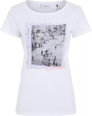 Футболка женская ONeill Lw Tora In New York, размер 50-52Surf Style <br>Женская футболка с фотопринтом от o neill - прекрасный выбор для активного отдыха на пляже.