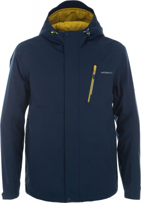 Куртка утепленная мужская MerrellЛегкая и теплая мужская куртка прямого кроя и средней длины станет оптимальным выбором для походов.<br>Пол: Мужской; Возраст: Взрослые; Вид спорта: Походы; Наличие мембраны: Да; Наличие чехла: Да; Возможность упаковки в карман: Нет; Регулируемые манжеты: Да; Водонепроницаемость: 10 000 мм; Паропроницаемость: 10 000 г/м2/24 ч; Защита от ветра: Да; Вес утеплителя: 80 г/м2; Вес утеплителя на м2: 100 г/м2; Температурный режим: До -5; Отверстие для большого пальца в манжете: Нет; Покрой: Прямой; Светоотражающие элементы: Да; Дополнительная вентиляция: Нет; Проклеенные швы: Да; Длина куртки: Средняя; Наличие карманов: Да; Капюшон: Не отстегивается; Мех: Отсутствует; Количество карманов: 5; Длина по спинке: 80 см; Водонепроницаемые молнии: Нет; Артикулируемые локти: Да; Застежка: Молния; Материал верха: 100 % полиэстер; Материал подкладки: 100 % полиэстер; Материал утеплителя: 100 % полиэстер; Технологии: M Select XDRY; Производитель: Merrell; Артикул производителя: S17AM3Z448; Страна производства: Китай; Размер RU: 48;