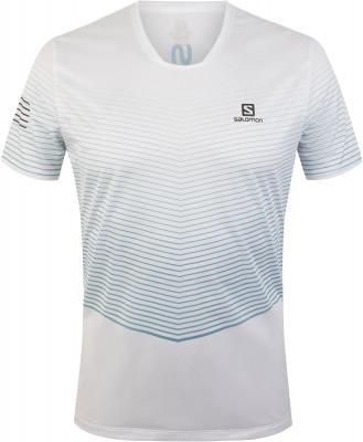 Футболка мужская Salomon Sense, размер 50-52Мужская одежда<br>Легкая беговая футболка salomon sence 37. 5, изготовленная из технологичного влагоотводящего материала.