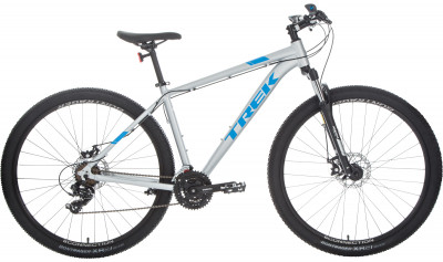 Trek MARLIN 4 29 (2018)Универсальный горный велосипед, который также подойдет для поездок по городу и катания в парках.<br>Материал рамы: Алюминий; Размер рамы: 17,5; Амортизация: Hard tail; Конструкция рулевой колонки: Полуинтегрированная; Наименование вилки: SR Suntour M-3030; Конструкция вилки: Пружинно-масляная; Ход вилки: 100 мм; Регулировка жесткости вилки: Да; Материал педалей: Нейлон; Система: Shimano Tourney TY301, 42/34/24; Количество скоростей: 21; Наименование переднего переключателя: Shimano Tourney Ty500; Наименование заднего переключателя: Shimano Tourney Ty300; Конструкция педалей: Классические; Наименование манеток: Shimano Altus Ef500; Конструкция манеток: Триггерные двурычажные; Тип переднего тормоза: Дисковый механический; Тип заднего тормоза: Дисковый механический; Материал втулок: Алюминий; Диаметр колеса: 29; Тип обода: Двойной; Материал обода: Алюминиевый сплав; Наименование покрышек: Bontrager x R2, 29 x 2,20; Материал руля: Алюминий; Название шифтера: Shimano Altus EF500; Конструкция руля: Изогнутый; Регулировка руля: Нет; Регулировка седла: Да; Амортизационный подседельный штырь: Нет; Максимальный вес пользователя: 136 кг; Вид спорта: Велоспорт; Технологии: Alpha Silver; Производитель: Trek; Артикул производителя: TR548464/17; Срок гарантии: 6 месяцев; Вес, кг: 14,6; Страна производства: Китай; Размер RU: 162-172;
