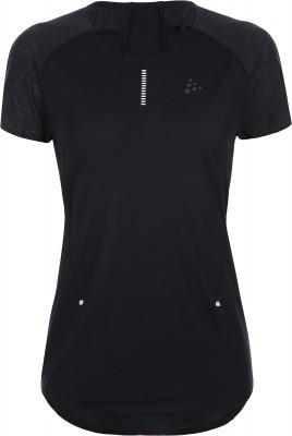 женская футболка craft, черная