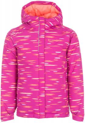 Куртка утепленная для девочек Columbia Horizon RideТеплая куртка для девочек columbia horizon ride - отличный выбор для путешествий в холодное время года.<br>Пол: Женский; Возраст: Дети; Вид спорта: Путешествие; Вес утеплителя на м2: 240 г/м2; Наличие мембраны: Нет; Возможность упаковки в карман: Нет; Регулируемые манжеты: Да; Длина по спинке: 55 см; Покрой: Прямой; Светоотражающие элементы: Да; Дополнительная вентиляция: Нет; Проклеенные швы: Нет; Длина куртки: Средняя; Наличие карманов: Да; Капюшон: Не отстегивается; Мех: Отсутствует; Количество карманов: 2; Водонепроницаемые молнии: Нет; Застежка: Молния; Технологии: Omni-Shield; Производитель: Columbia; Артикул производителя: 1557141684M; Страна производства: Вьетнам; Материал верха: 100 % нейлон; Материал подкладки: 100 % нейлон; Материал утеплителя: 100 % полиэстер; Размер RU: 137-147;
